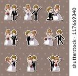 set of wedding  bridegroom and... | Shutterstock .eps vector #117669340