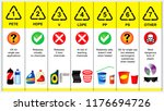 plastic codes in recycle reuse... | Shutterstock .eps vector #1176694726
