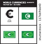 currency icon banknote   europe ... | Shutterstock .eps vector #1176696640