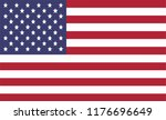 united states of america flag | Shutterstock .eps vector #1176696649