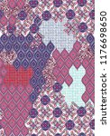 ethnic patchwork seamless... | Shutterstock .eps vector #1176698650