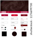 dark red vector style guide...