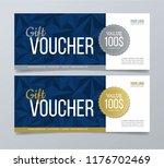 gift voucher card. modern... | Shutterstock .eps vector #1176702469