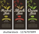 vector set of three labels for... | Shutterstock .eps vector #1176707899