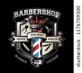 vintage barbershop logo template | Shutterstock .eps vector #1176709300