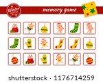 memory game for preschool... | Shutterstock .eps vector #1176714259