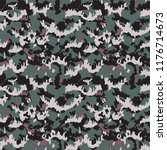 camouflage pattern. seamless.... | Shutterstock .eps vector #1176714673