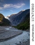 landscape of franz josef...   Shutterstock . vector #1176715810