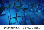 an arty 3d illustration of... | Shutterstock . vector #1176724060