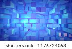 an opt art 3d illustration of... | Shutterstock . vector #1176724063