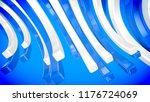 a popular art 3d illustration... | Shutterstock . vector #1176724069