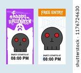 happy halloween invitation... | Shutterstock .eps vector #1176724630