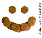 round chocolate christmas... | Shutterstock . vector #1176730510