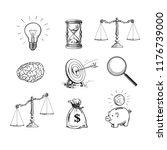 business concepts set. light... | Shutterstock .eps vector #1176739000