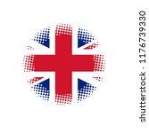 british flag button.. halftone