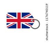 british flag and price label