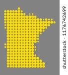 map of minnesota | Shutterstock .eps vector #1176742699