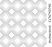 linear seamless pattern. simple ... | Shutterstock .eps vector #1176743740