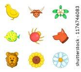 eternal nature icons set....   Shutterstock . vector #1176746083
