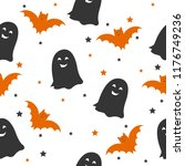 a seamless halloween pattern...   Shutterstock .eps vector #1176749236