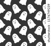 a seamless halloween pattern...   Shutterstock .eps vector #1176749239