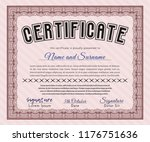 red classic certificate... | Shutterstock .eps vector #1176751636