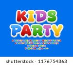 vector bright emblem kids party.... | Shutterstock .eps vector #1176754363
