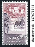 spain   circa 1960  stamp... | Shutterstock . vector #117675943