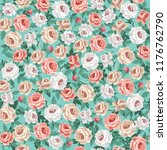 seamless vintage floral pattern ... | Shutterstock .eps vector #1176762790