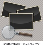 retro photo frames with... | Shutterstock .eps vector #1176762799