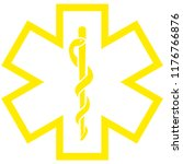 medical symbol of the emergency ... | Shutterstock . vector #1176766876