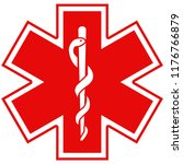 medical symbol of the emergency ... | Shutterstock . vector #1176766879