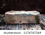 old brick closeup on the wooden ... | Shutterstock . vector #1176767269