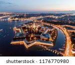 aerial view of the night city... | Shutterstock . vector #1176770980