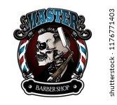 vintage barbershop sign | Shutterstock .eps vector #1176771403