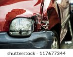 details of a red car in an... | Shutterstock . vector #117677344