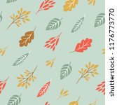 seamless pattern  fall leaves | Shutterstock .eps vector #1176773770