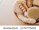 brushes for dry body massage | Shutterstock . vector #1176775630