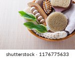 brushes for dry body massage | Shutterstock . vector #1176775633