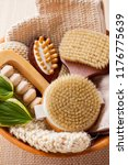 brushes for dry body massage | Shutterstock . vector #1176775639