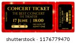 ticket template  concert ticket ... | Shutterstock .eps vector #1176779470