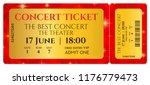 ticket template  concert ticket ... | Shutterstock .eps vector #1176779473