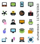color and black flat icon set   ... | Shutterstock .eps vector #1176781063