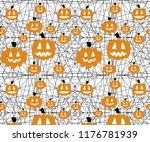 vector halloween repeated... | Shutterstock .eps vector #1176781939