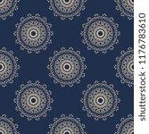 seamless damask wallpaper... | Shutterstock .eps vector #1176783610