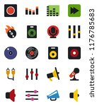 color and black flat icon set   ... | Shutterstock .eps vector #1176785683