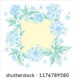 realistic botanical ink sketch...   Shutterstock .eps vector #1176789580