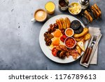 full fry up english breakfast... | Shutterstock . vector #1176789613