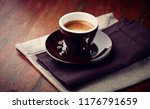 cup of espresso coffee on... | Shutterstock . vector #1176791659