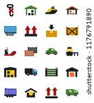 color and black flat icon set   ... | Shutterstock .eps vector #1176791890
